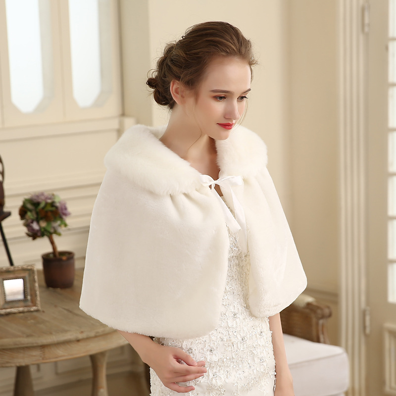New wool shawl winter cheongsam with bridesmaid dress cape cape to keep warm