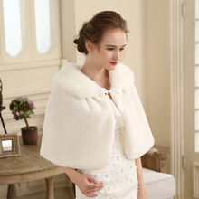 New wool shawl winter cheongsam with bridesmaid dress cape cape to keep warm shawl collar plunging cape dress