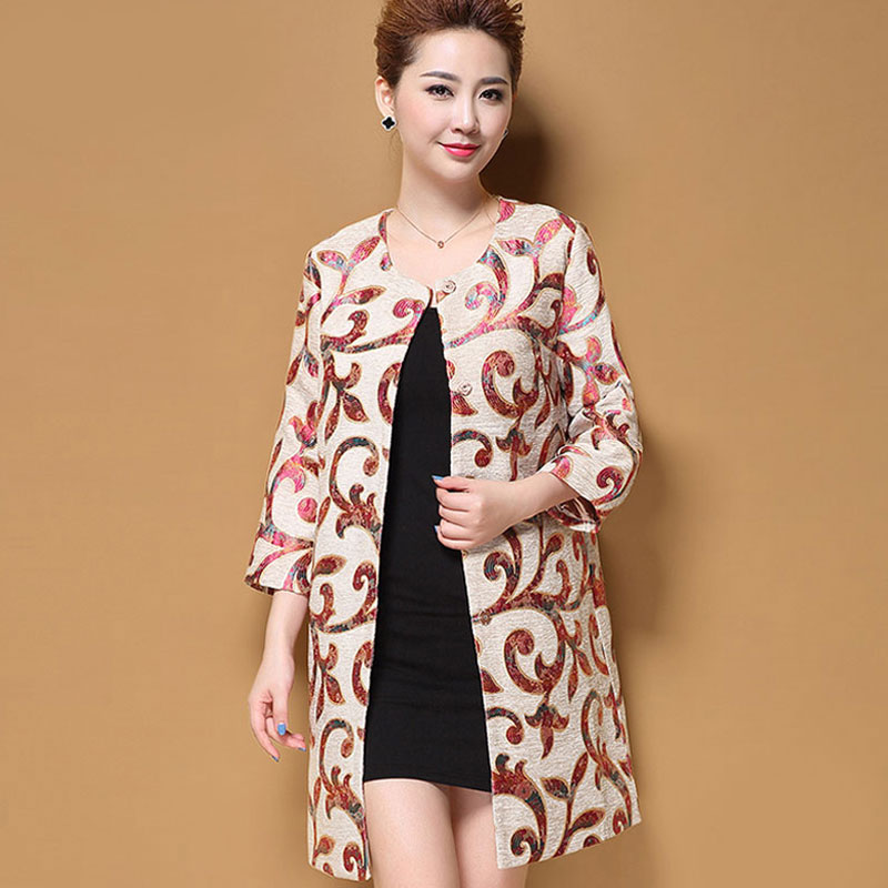 Haut de gamme grande taille M-5XL rétro hiver manteau femmes laine manteau broderie fleur imprimé vêtements d'extérieur manteau femelle Trench manteaux pour les femmes