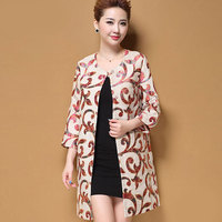 High End Plus Size M 5XL Retro Winter Coat Women Wool Coat Embroidery Flower Printed Outwear Coat Female Trench Coats For Women