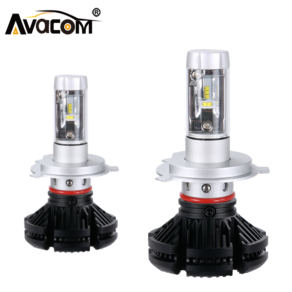 Avacom H7 LED 12000Lm 12V Car Headlight H1 H3 H11 LED Ice Auto Lamp H8 9005 HB3 9006 HB4 ZES 50W 6500K 24V H4 LED Car Bulb 1pair 2 pcs 24w bulb 3000lm auto cree led h11 9005 h8 9006 car headlights lamp 6000 6500k lamp waterproof dc12 24v