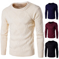 New Fashion Slim Fit Sweater Men Classic Pure Black Pullover Men Solid Color O-Neck Pull Homme Cashmere Wool Sweaters Shirt