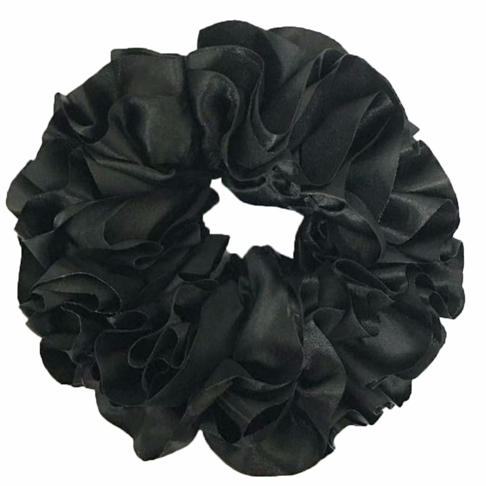 Flexible Rubber Band Simple Comfortable Volumising Scrunchie Big Hair Tie Ring Hijab Volumizer Khaleeji   Headwear