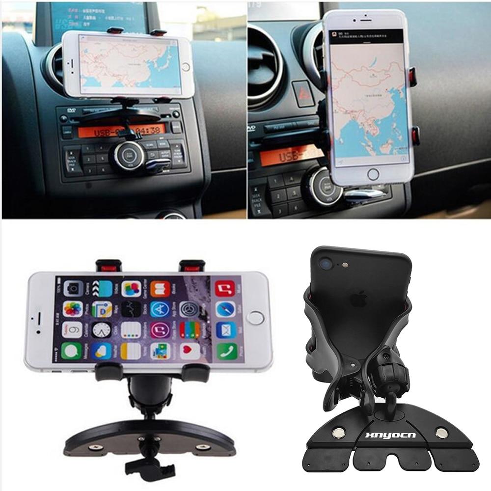 Universal CD Slot Car Cell Phone Holder Mount para iPhone SE 7 6S - Accesorios y repuestos para celulares - foto 5