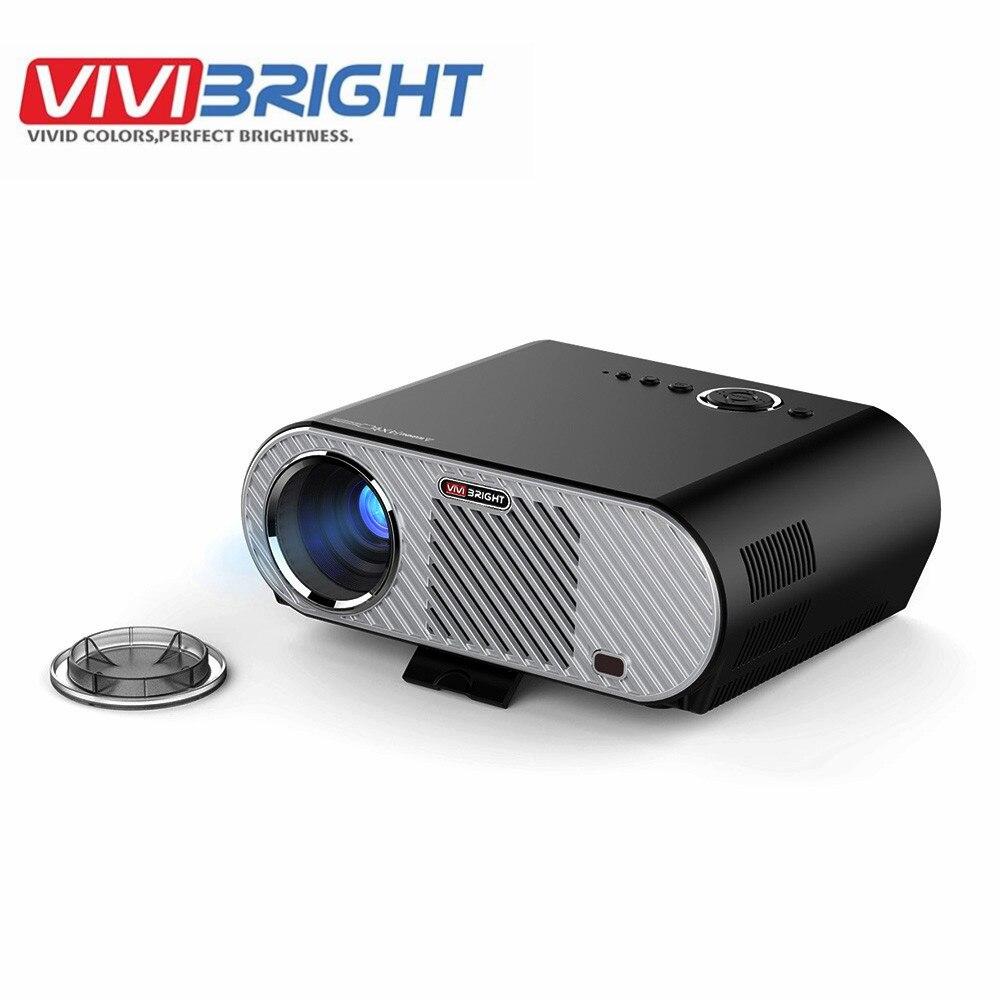 3200lumens Hd Home Cinema Theater Multimedia 3d 1080p Led: VIVIBRIGHT GP90 LCD Projector 3200 Lumens Full HD