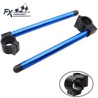FX CNC Adjustable Motorcycle 50MM Clip On Ones Handlebar Fork Handle Bar For Yamaha YZF R1 R6 2005 2010 2006 2007 08 09 10