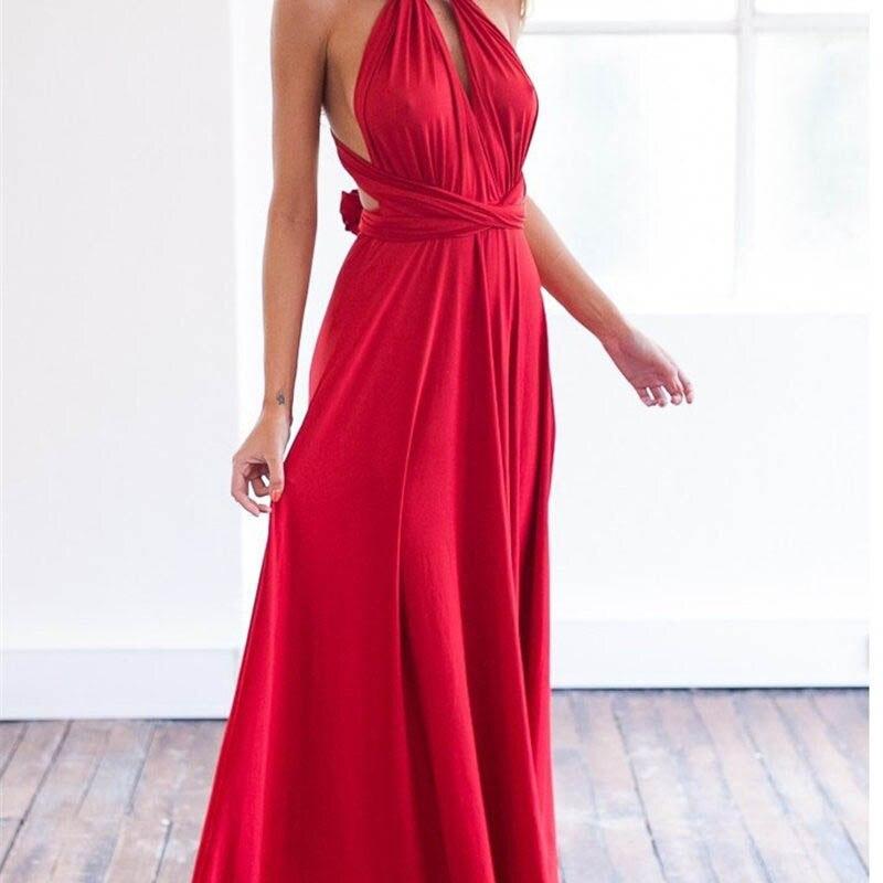 2019 Robe de Verão Damas de Honra Boho Mulheres Vestido Das Senhoras Mulheres Sexy Clube Maxi Vestido Bandage Longo Festa Vestido Balanço C0195 Multiway