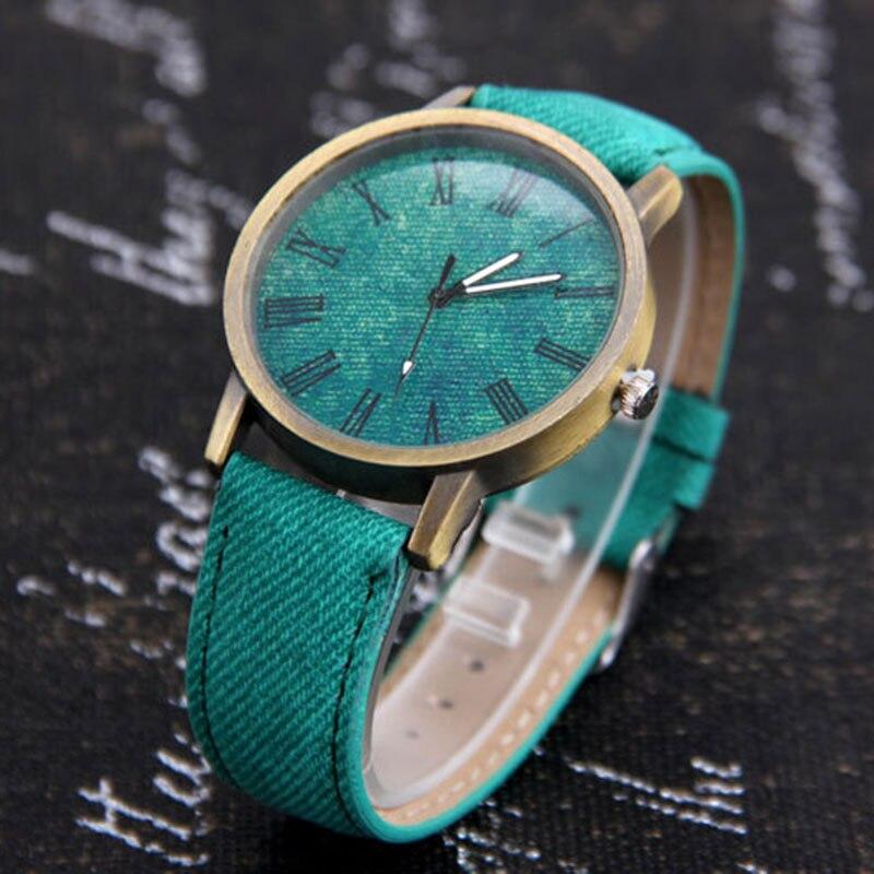 Mdnen hommes femmes montres montre à Quartz Denim Design bracelet en cuir homme décontracté montre-bracelet Relogio Feminino dames et femme montre