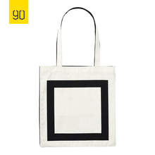 90FUN Canvas Shopping Bag 100% Cotton Fashion Handbag Canvas Tote Ladies Casual Shoulder Bag Reusable Shopping Bags