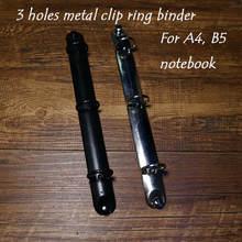 A4 b5 спиральный блокнот с листьями металлический зажим 3 отверстия