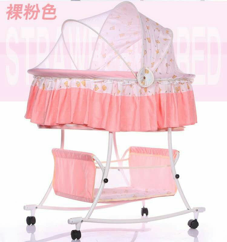 Baby Cradle Bed Multi-function Child Baby Rocking Bed Foldable With Roller Baby Sleeping Bed  Bassinet Baby Crib