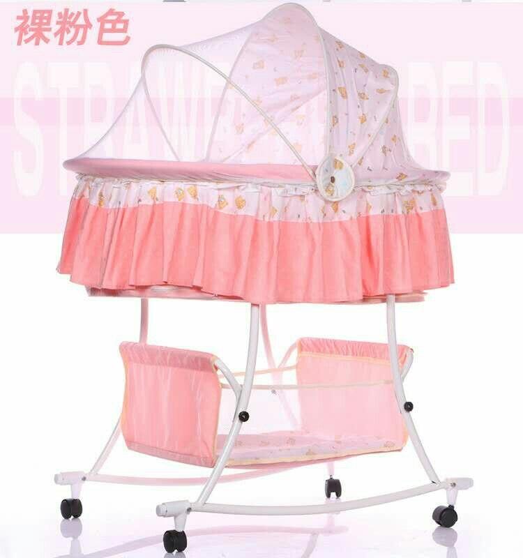 Lit bébé berceau multi-fonction enfant bébé lit à bascule pliable avec rouleau lit bébé couffin berceau bébé