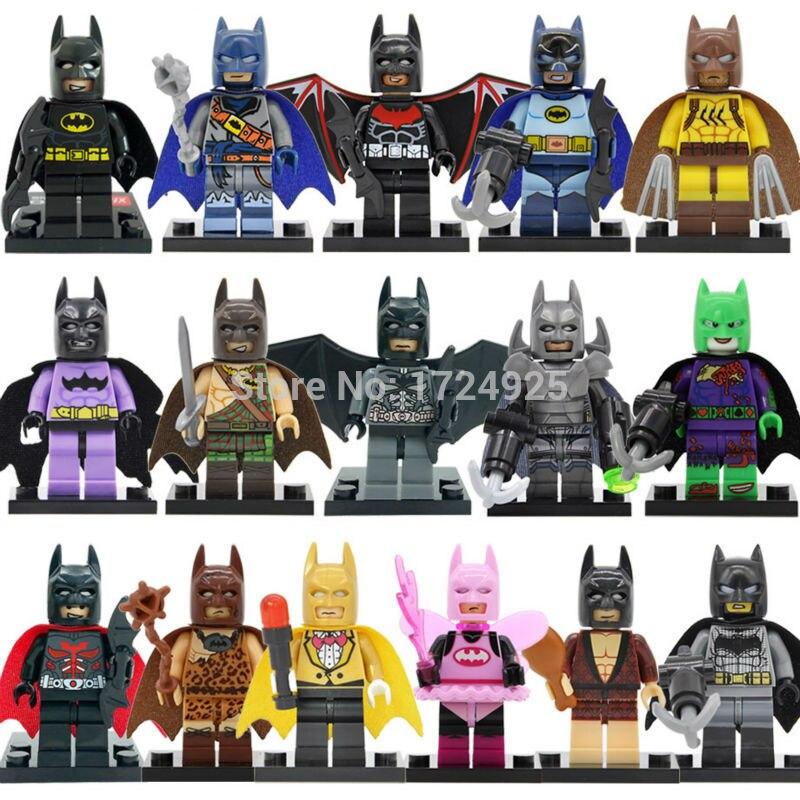 Один распродажа Бэтмен Super hero Batzarro рисунок DC super hero Бат Человек Строительные блоки Кирпич Набор Модель подарок детские игрушки ...