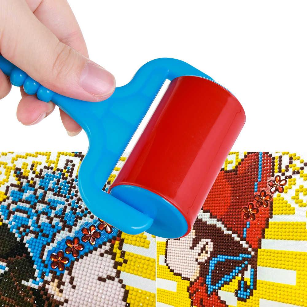 1 pieza multifunción diamante pintura Cruz puntada herramienta diamante pintura rodillo plástico herramienta de laminación diamante pintura Accesorios