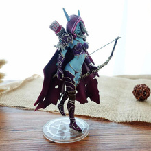17CM Archery Queen WOW Sylvanas Windrunner PVC Anime Action Figure Model with Base for Children Kid Birthday Toys Gift for Boys cataclysm lady sylvanas windrunner action figure pvc collection model toys