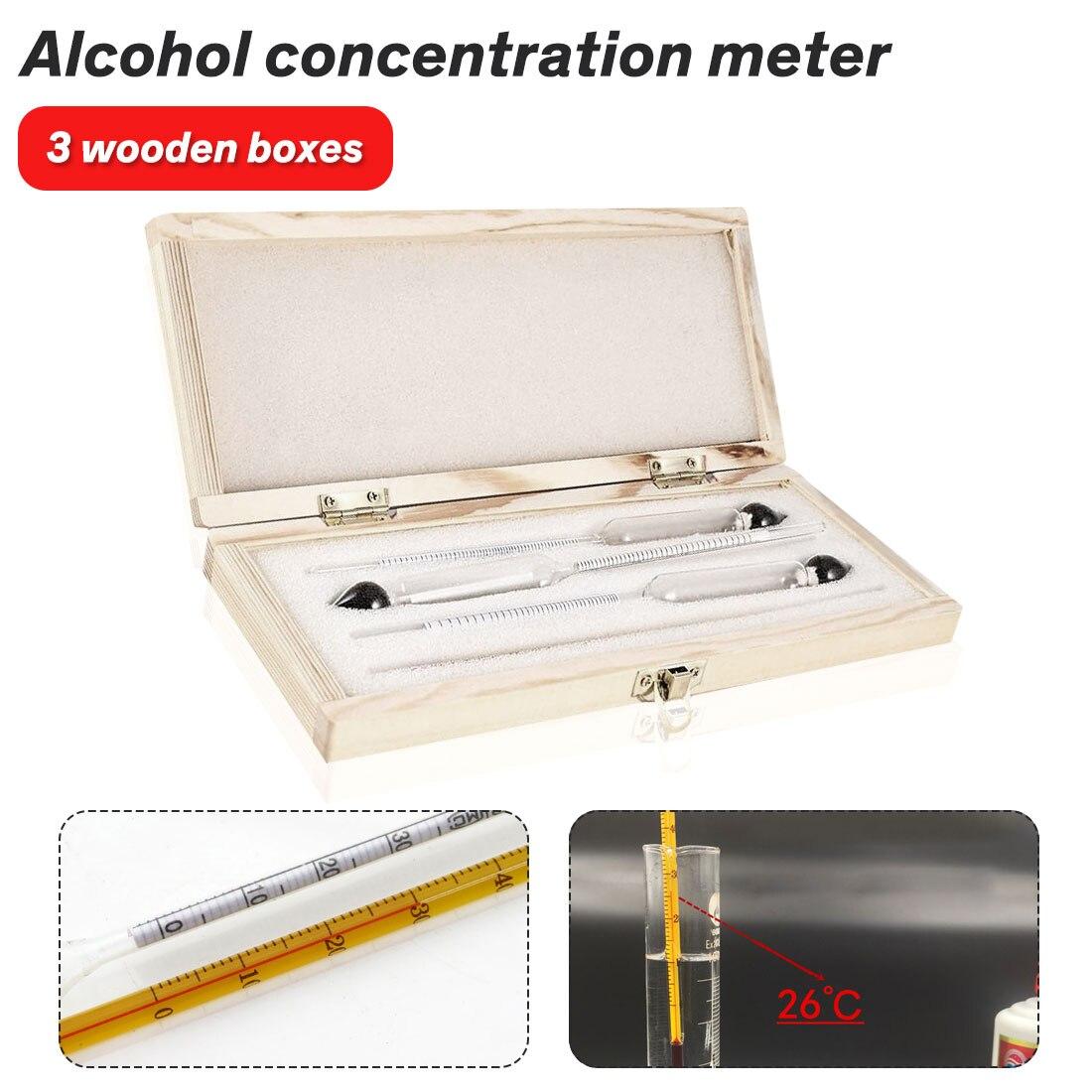 0-100/% Hydrometer Alcoholmeter Alcohol Tester Concentration Meter UR