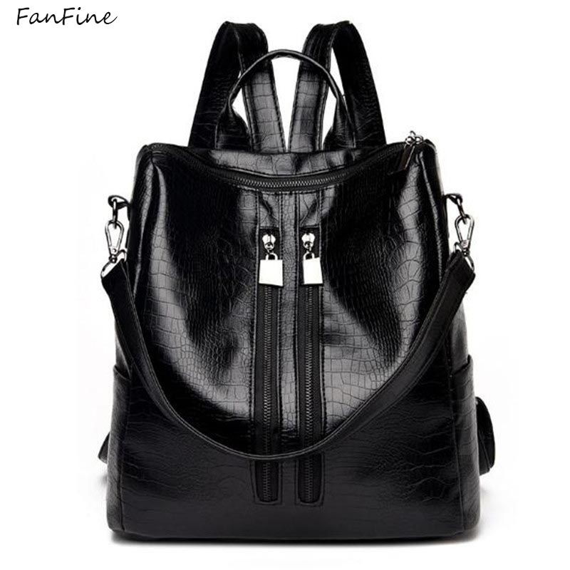 FanFine New Fashion Backpack Simple Leisure Backpack Student School Bag Rucksack Mochila Escolar Backpack For Women Girl
