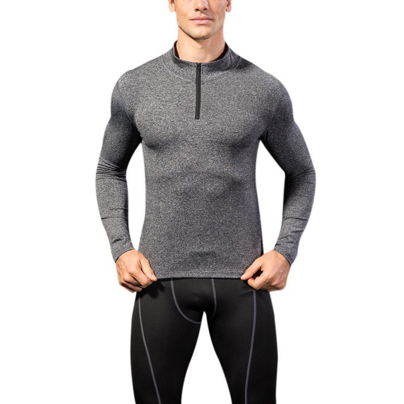 Men Sport Shirt Athletics Long Sleeve 2018 New Mens Quick Dry Running T-shirts Gym Clothing Fitness Top Mens