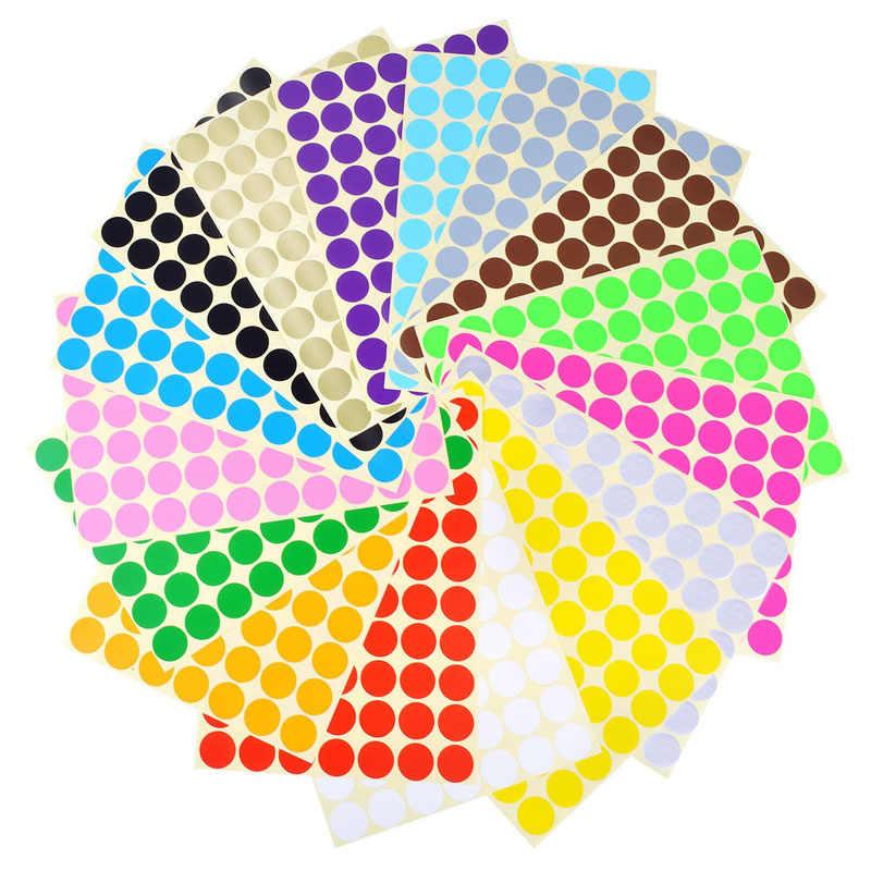 Vòng Dán Trong 10 Các Loại Màu Sắc Màu Miếng Dán Chấm Bi Mã Hóa Vòng Tròn Chấm Nhãn Đường Kính 6 Mm 8 Mm 10 Mm 13 Mm 19 Mm 25 Mm