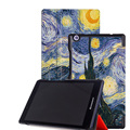 Ultra thin slim smart cover leather case folio case for Lenovo Tab 2 A8 A8-50 A8-50F 8 Inch tablet slik printed +free gift