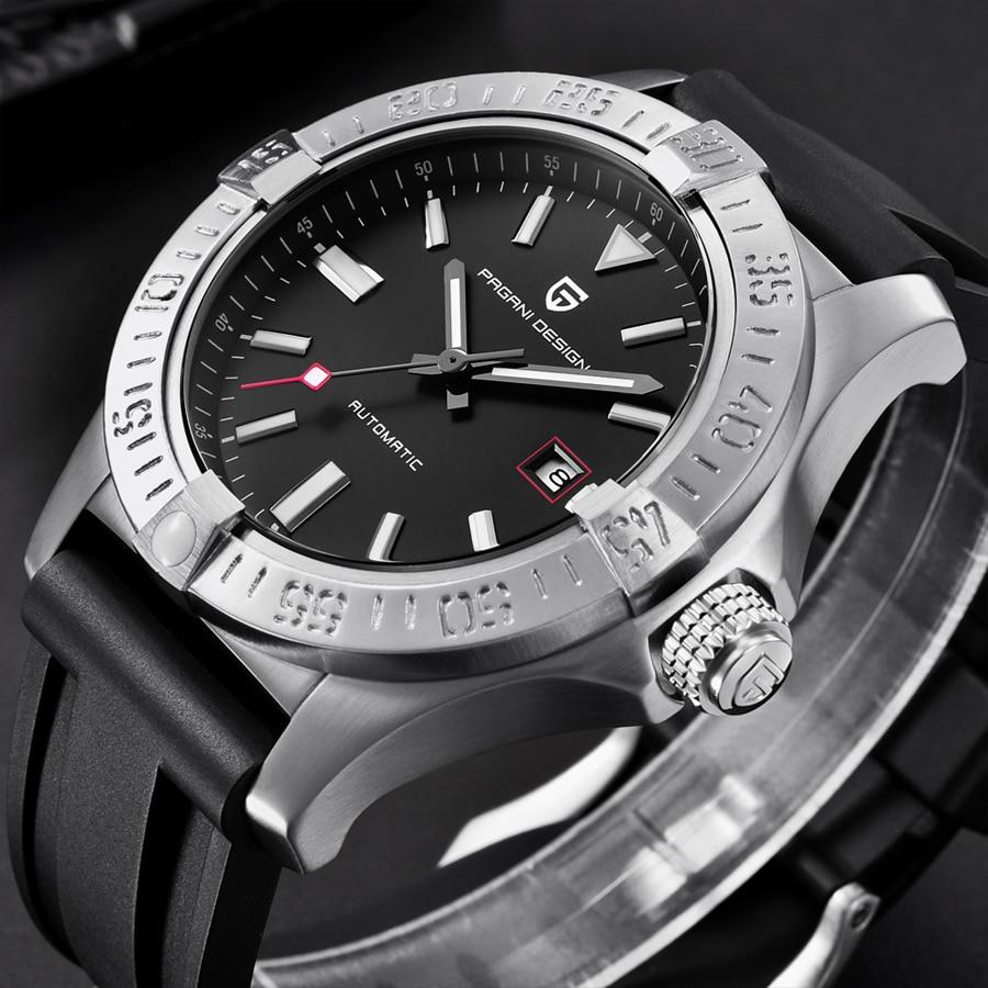 Relogio Masculino Mechanical Watches Men Luxury Brand PAGANI DESIGN Silicone Rubber Sport Automatic Men Watch New Male Clock