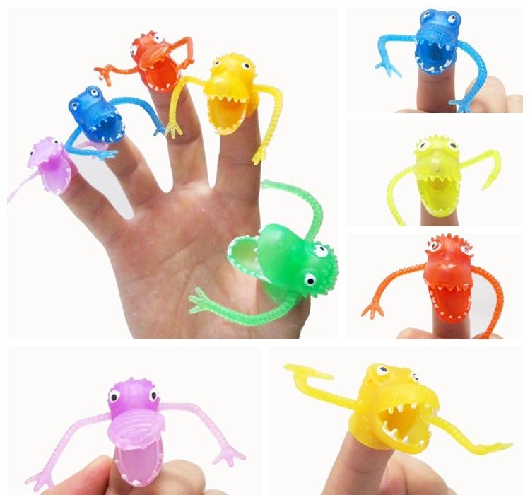 Novedad, plástico, dinosaurio, dedos, dedos, tacit, historia, mini, - Muñecas y peluches