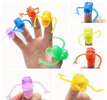5Pcs/set Novelty Plastic Mini  Dinosaur Fingers Tacit Storytelling Can Be Loaded with Small Toys Hand Puppet Christmas gift for