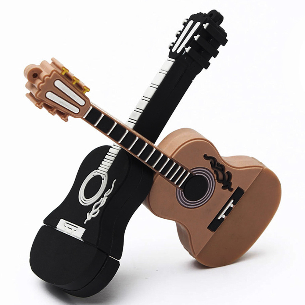 11.11 New Arrival 16GB Guitar USB 2.0 Metal Flash Memory Stick Storage Thumb U Disk High Quality Hot Sell Drop Shipping