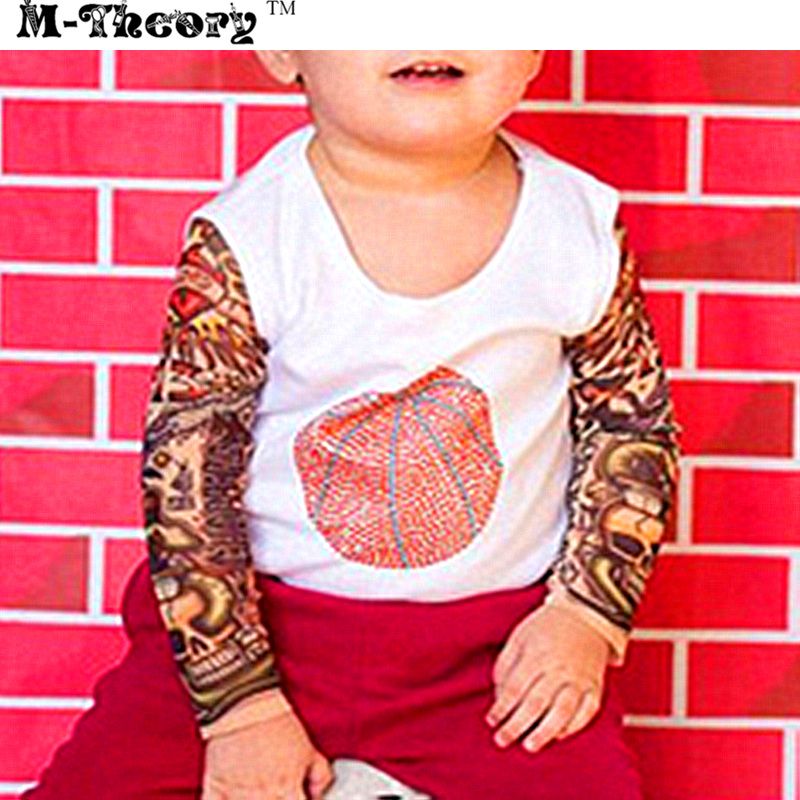 M-theory 1pcs Kid Size 3D Tattoos Sleeve Arm Stockings Leggings Makeup Tools Biker Rocker Henna Temporary Body Arts