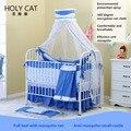 Holycat детская кровать многофункциональный экологичный ребенок кровать tieyi распускать и мыть ткань детская кроватка кровать