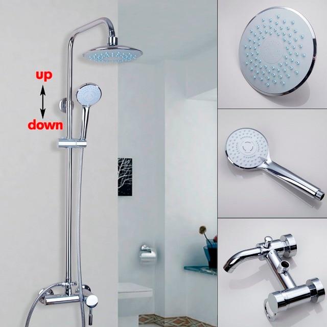 Modern Wall Mounted Chrome Bathroom 8\'\' Rain Shower Faucet Bathtub ...