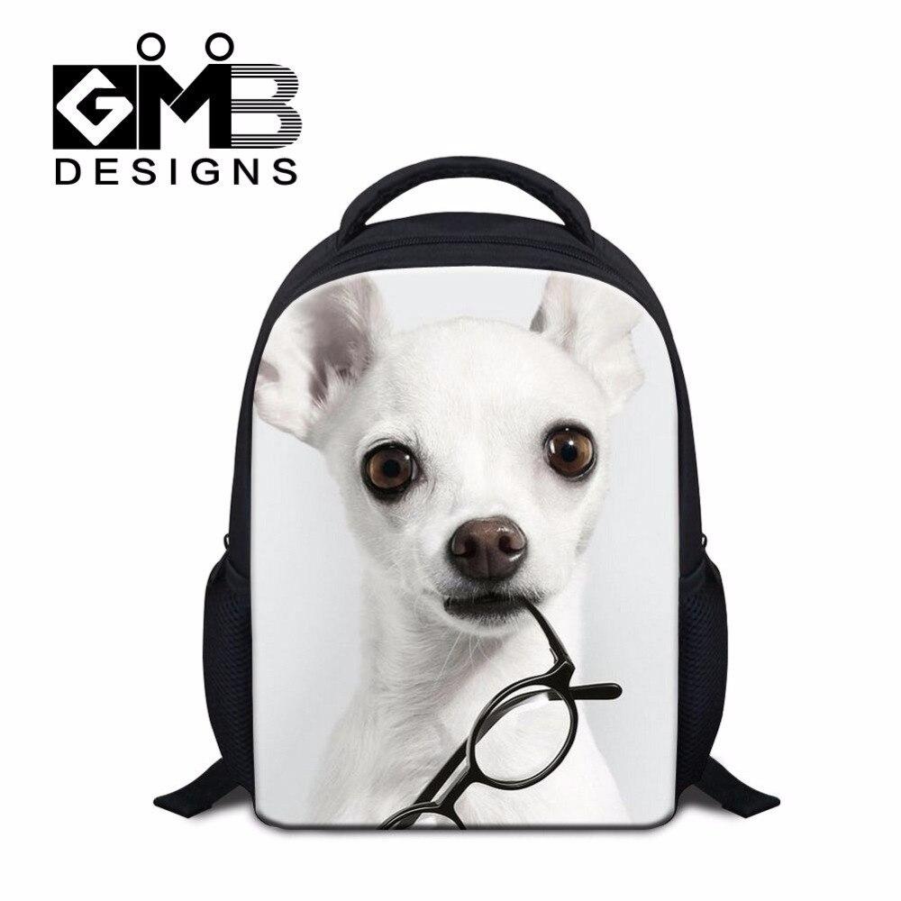 Dispalang children's gifts cute puppy with glassess printing kindergarten  school bags kids satchel preschool backpack for boys