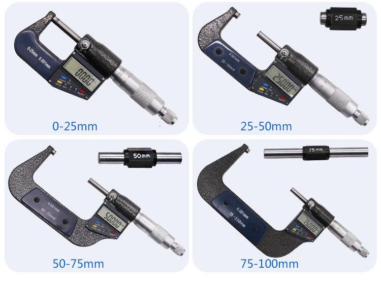 Fora 0-25mm Tela LCD Digital Paquímetro Micrômetro Calibre Medida Ferramentas