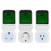1PCS EU/US/UK Plug Energy Power Meter Watt Volt Amp Frequency Monitor Analyzer energy monitor volt amp watt meter 50Hz/60Hz