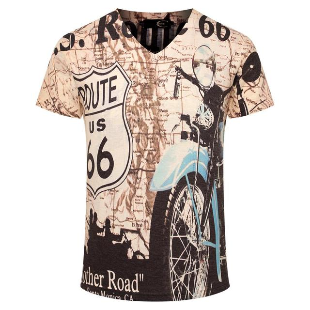 Buy retro motorcycle 3d printed t shirt for Printed shirts for mens
