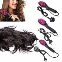 Newest Hair Straightener Comb Ceramic Temperature LCD Simply Electric Brush