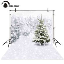 hot deal buy allenjoy photo background snow winter new year christmas tree snowflake bokeh photo booth background photo studio photography