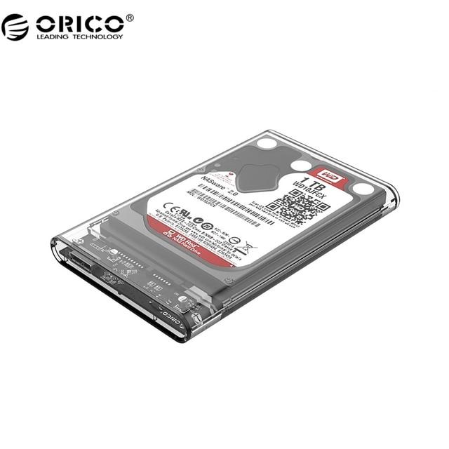ORICO 2139U3 Hard Drive Enclosure 2.5 inch Transparent USB3.0 Hard Drive Enclosure Support USASP protocol