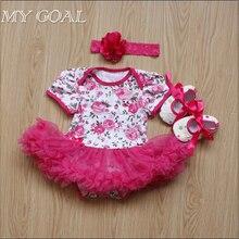 Младенец комбинезон новорожденный рождество младенца девочка наборы хлопка одежды платья девушки