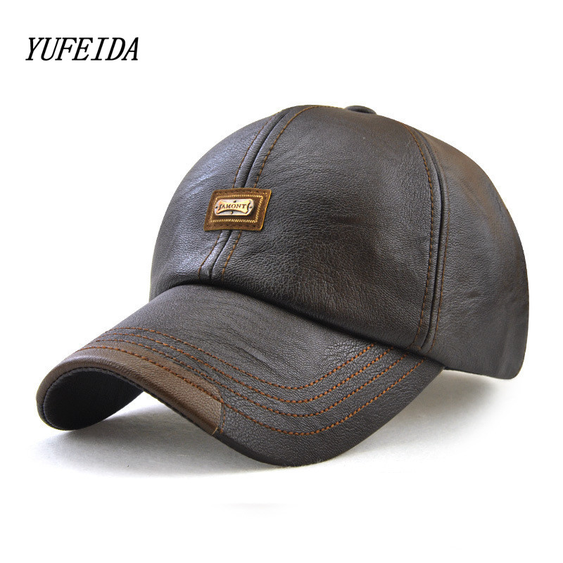 Winter PU Baseball Caps Snapback Hat For Men Solid Color Unisex Bone Fashion Hip Hop Women Men Gorras Adjustable Snapbacks Cap