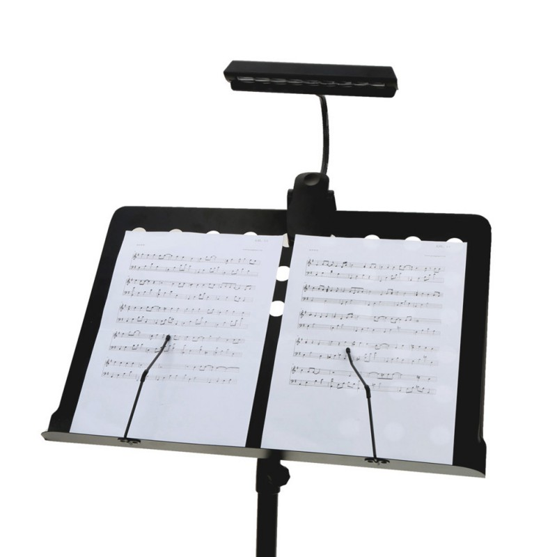 Professional Music Score Light 9 LED Clip-on Portable Flexible Bendable Adjustable USB Battery Operated Keyboard Tool