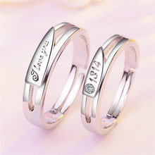 925 Sterling Silver Open Rings For Women Men Couple adjustable rings for lovers S925 silver jewelry accessories(China)