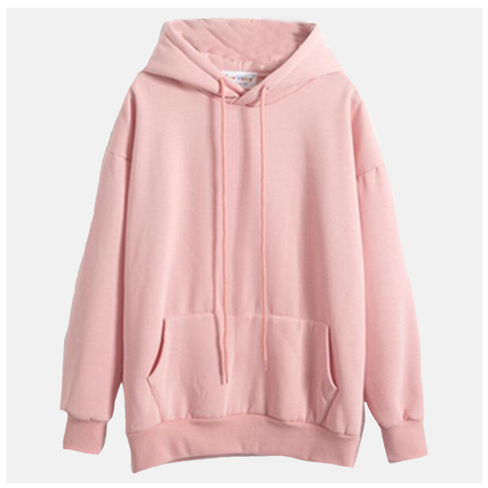 Plain Hooded Sweatshirt Cute Pink Kawaii Poleron Mujer 2020 Winter Solid Kangaroo Pocket Hoodie Navy Light Blue Hoodie Women