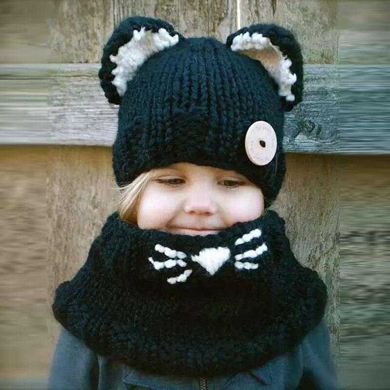 Detail Feedback Questions about Cute Kids Winter Hats Children Girls ... 7342468a680f