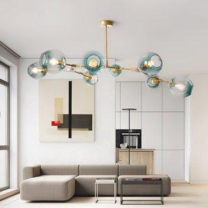 Image 5 - הפוסטמודרנית LED נברשת זכוכית תליית אורות חדר שינה מנורות סלון מושעה תאורת בית גופי תליון מנורות