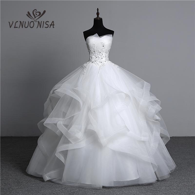 Fashion Classic Real Photo Appliques Vintage White Pearls Wedding Dresses 2021 Vestidos De Noiva Bridal Gown Plus Size Strapless