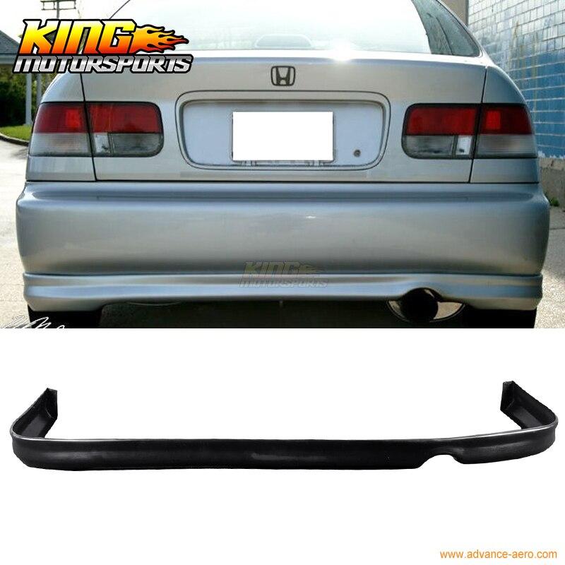 Fit 96 97 98 Honda Civic Black Rear Bumper Lip Spoiler Poly Urethane PU Mitsubishi Pajero