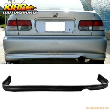 Cocok 1996 1997 1998 Honda Civic 2 4DR Type R Rear Bumper Lip Spoiler Poly Urethane PU