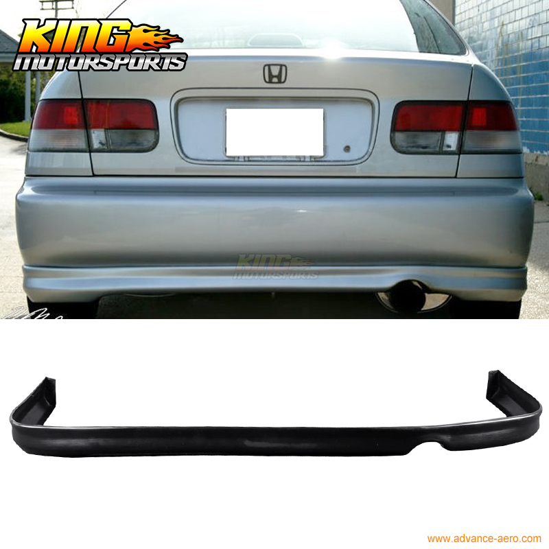 Fit 1996 1997 1998 Honda Civic type R Rear Bumper Lip Spoiler Poly Urethane PU tie up pompons hidden wedge snow boots