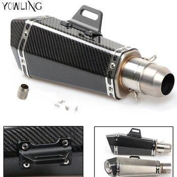 Universal 36-51mm Motorcycle Real carbon fiber exhaust Exhaust Muffler pipe For Honda CBR600RR CBR1000R CBR250R CBR300R
